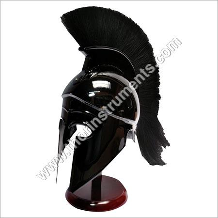 Black Antique Greek Corinthian Armor Helmet