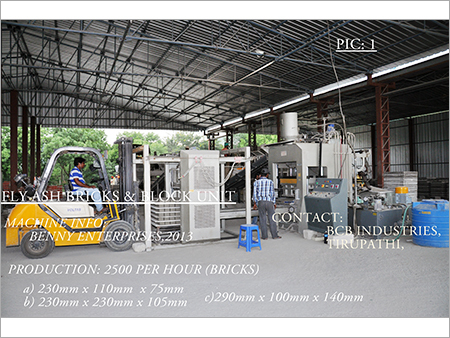 Fly Ash Bricks Manufacturing Unit