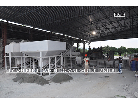 Fly Ash Brick Batching Bin System Unit