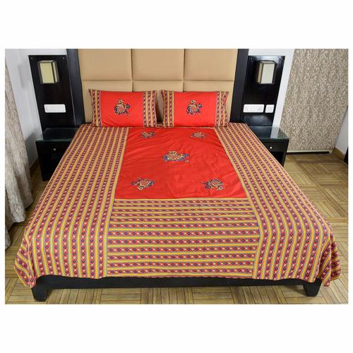 Elephant Design Appliqué work Bed Sheet
