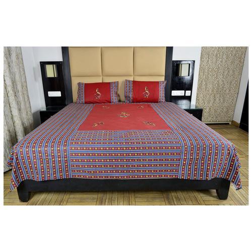 Rajasthani Print Appliqué work Bedsheet