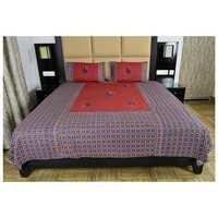 appliqué work Rajasthani Print bedsheet