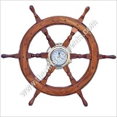 Maritime Nautical Ship Wheel Clock
