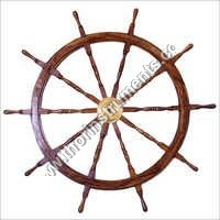 Boat Steering Ship Wheel With Brass Ring Pirate