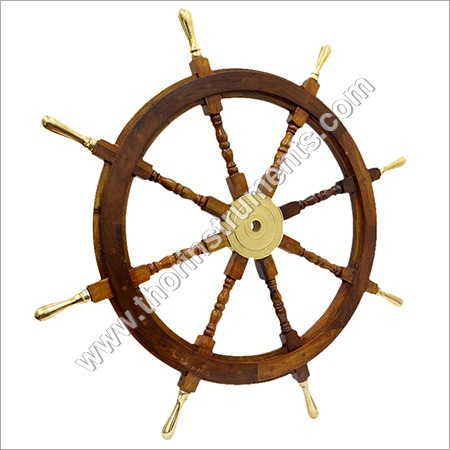 Maritime Wheel Wooden Steering Nautical Vintage Boat Ship Collectible Home Decor Antique Reasonable Price