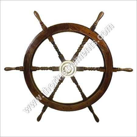 Nautical Antique Wooden Ship Wheel