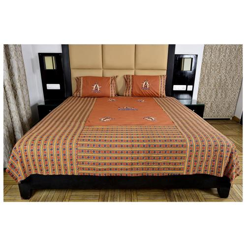 Patch Work Rajasthani Print Bedsheet