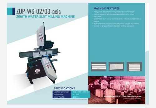 UPVC Plane Water Slot Drill Machine