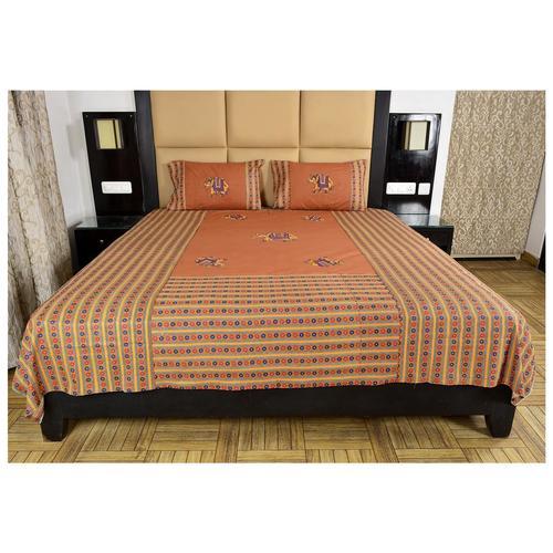 Patch Work Rajasthani Design Bedsheet