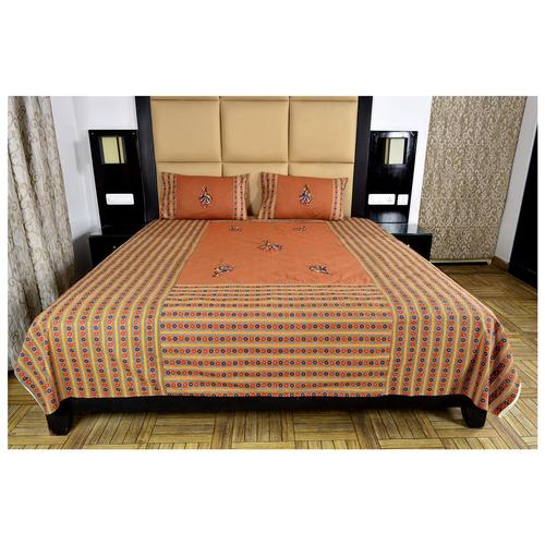 Dancing Design Patch Work Bed Sheet