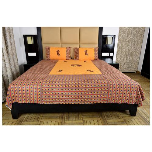 traditional look patch work bedsheet