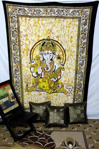 Ganesha Design Tapestry