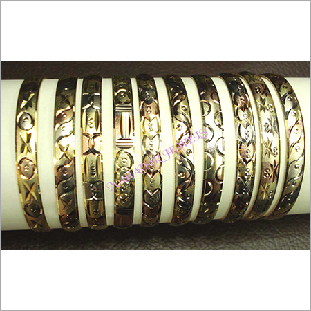 Micron Plated Tri Color Bangles