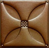 Artificial Metallic Copper Leather Tiles