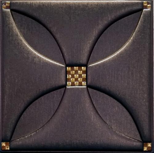 Silfra Leather Panel Coffee Brown