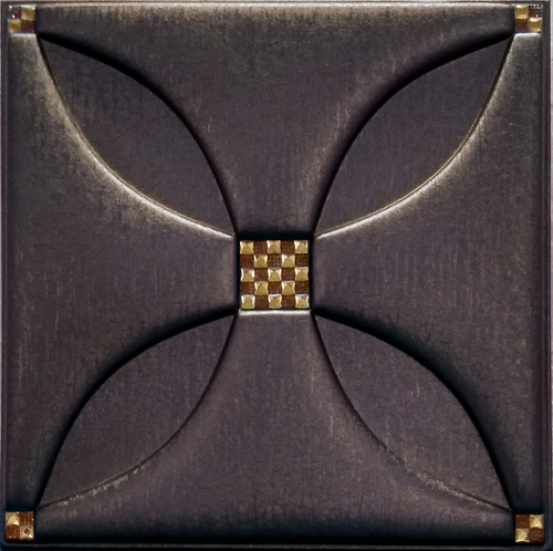 Artificial Coffee Brown Leather Tiles