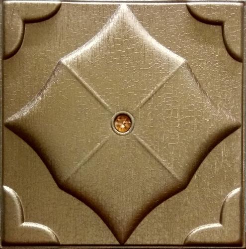 Metallic Copper Leather Wall Panel