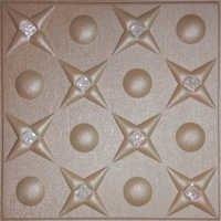 Metallic Beige Leather Ceiling Panel