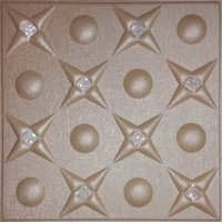 Metallic Bronze Leather Ceiling Panel