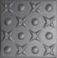 Metallic Silver Leather Ceiling Panel