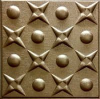 Metallic Copper Leather Ceiling Panel