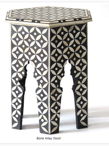 Bone Inlay Stool