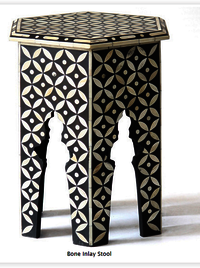 Bone Inlay Modern Antique Handmade Stool