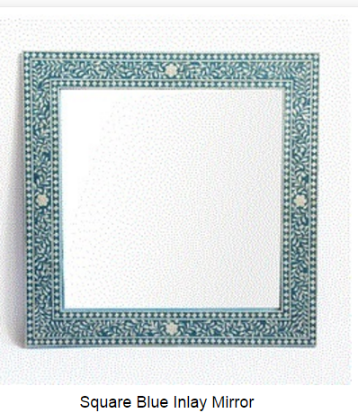 Floral Bone Inlay Arch Mirror Frame