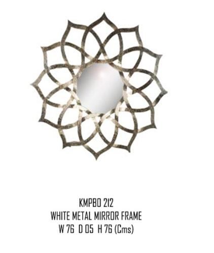 Wall Beveled Mirror Framed - Bedroom or Bathroom Rectangular frame Hangs Horizontal & Vertical
