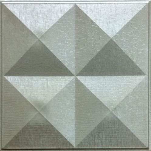 Decorative Metallic Beige Leather Tiles