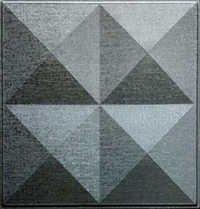 Decorative Metallic Silver Leather Tiles