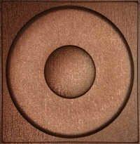 Silfra Leather Panel Metallic Copper