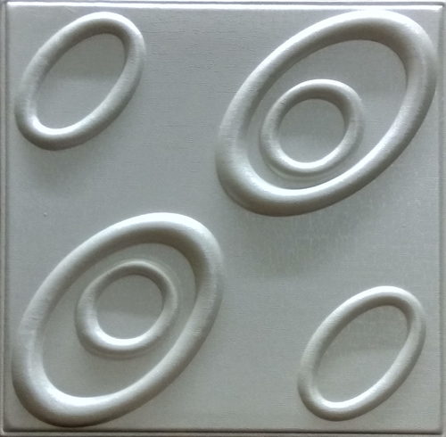 Pearl White Faux Leather Tiles