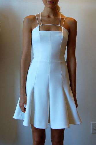 Ladies Neoprene Short Dress in White