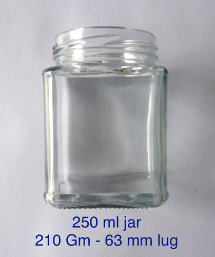 210 ml square jar