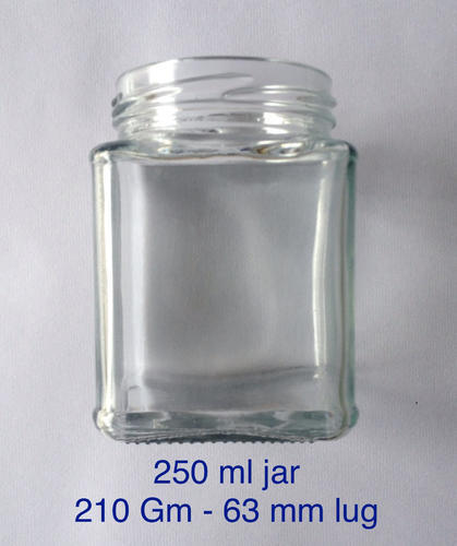 210 ml square jar