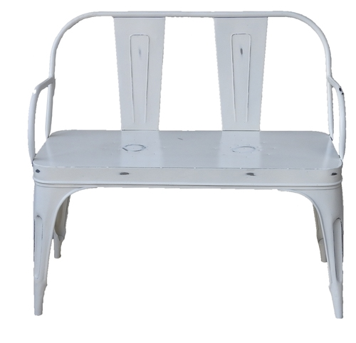 Iron White Chair Two Seater