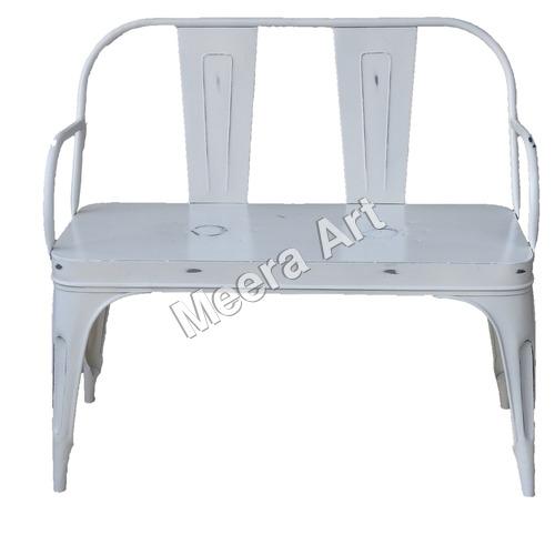 Iron White Chair Two Seater