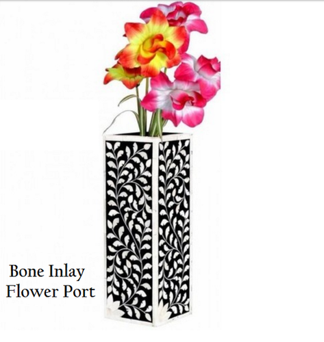 Bone Inlay Flower Port Box