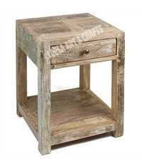 White Winter Reclaimed Bedside Table