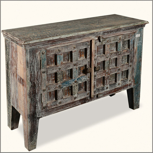 Reclaimed one door  Brown Sideboard