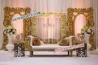 Wedding Golden Fiber Backdrop Frames