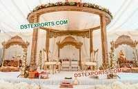 Wooden Carved Indian Wedding Mandaps