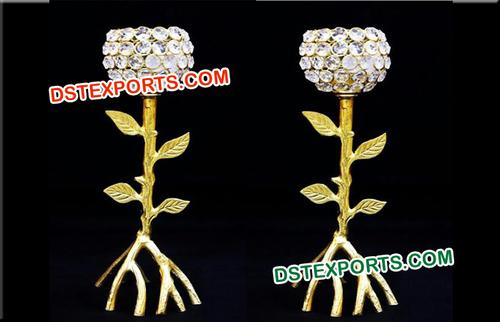 Stylish Crystal Candle Holder