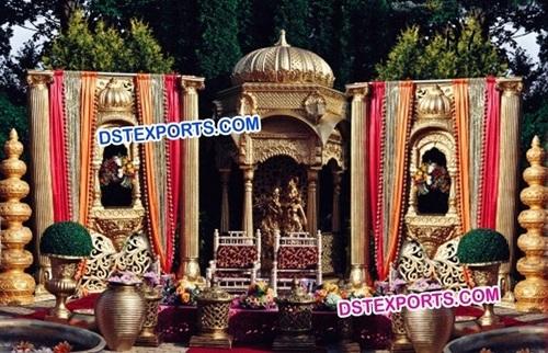 Rajwada Theme Wedding Stage
