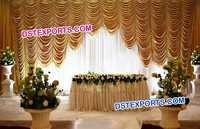 Wedding Reception Stage Backdrop