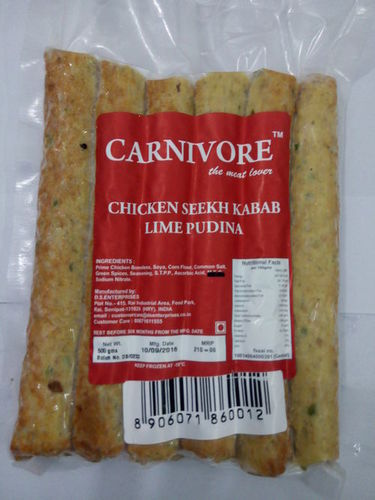Lime Pudina Chicken Seekh Kabab