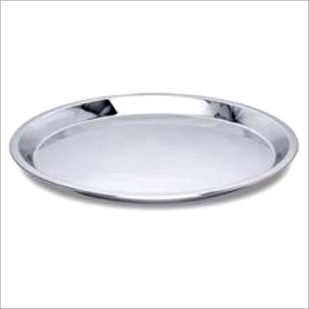 Stainless Steel Medium Size Dinner Plate