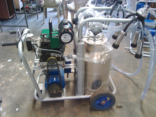 Mobile Trolley Double Cow Single Can Machine