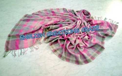 Wool Acrylic Woven Scarves